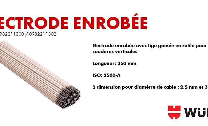 Electrode enrobée