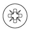 Empreinte cruciforme PZ (pozidrive)