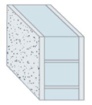 Maçonnerie ;: mur maçonné avec crépi intérieur et extérieur