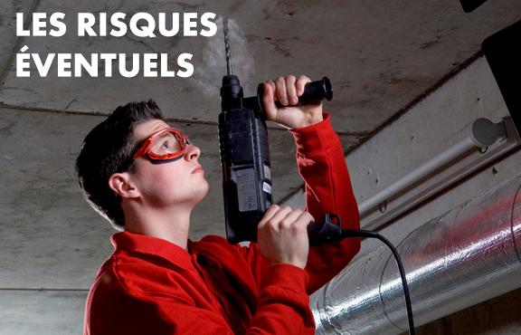 Risques éventuels pour le port de lunettes de protection