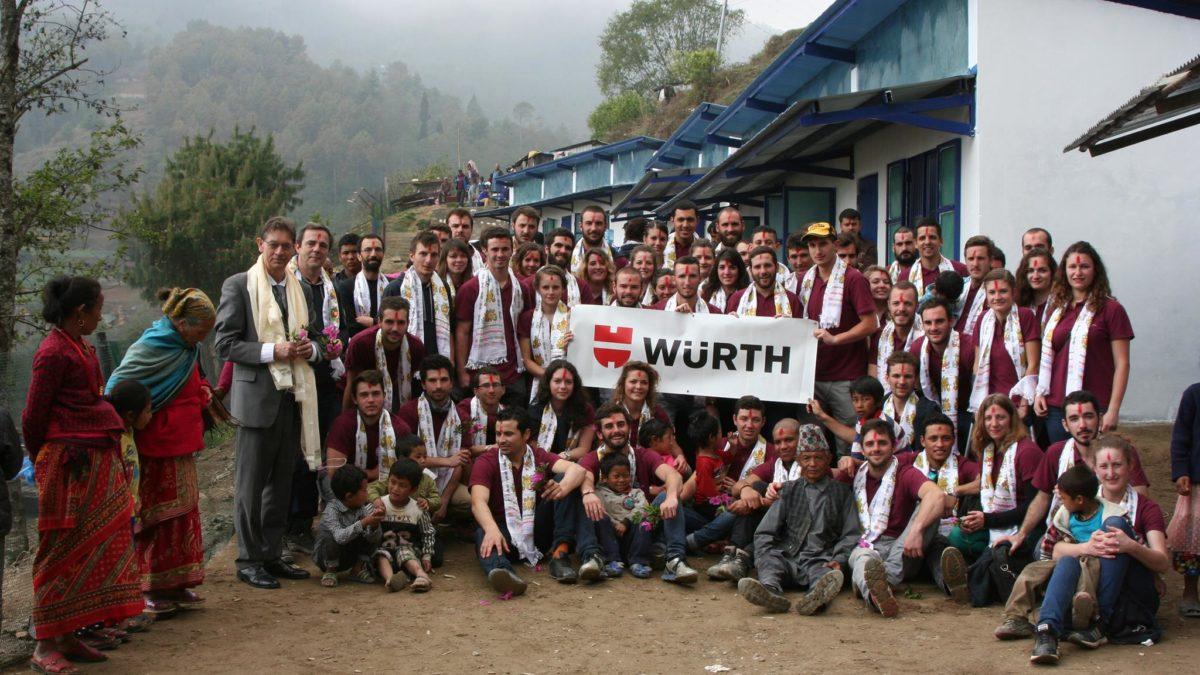 Würth soutient la création d'une nouvelle école pour les enfants du Népal !