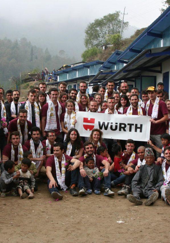 Les élèves de l'ISA BTP au Népal