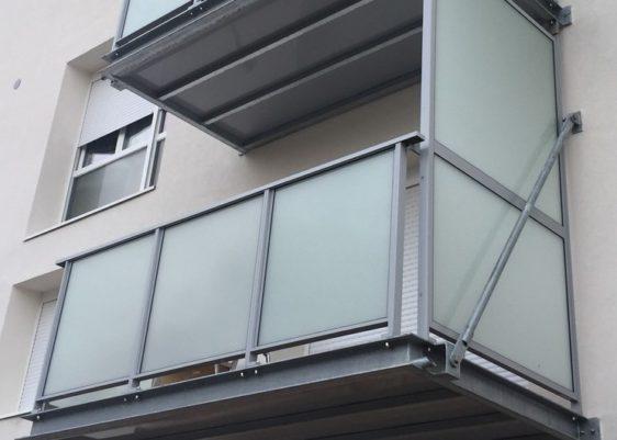 Balcon Joliot Curie chantier Profix