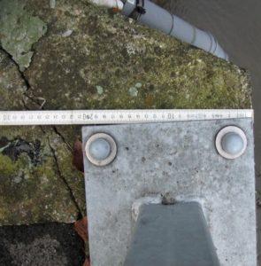 Rupture du béton en bord de dalle