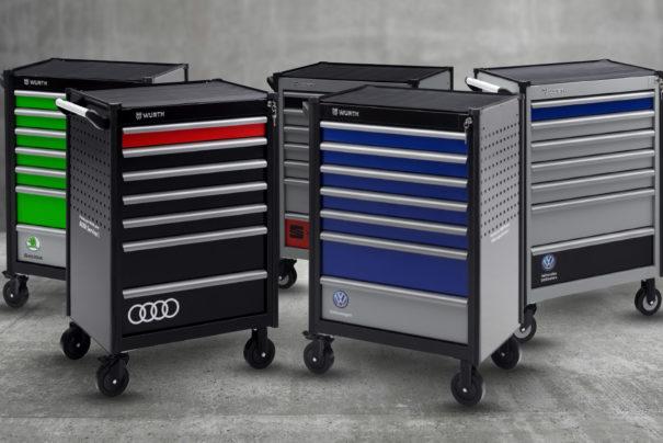 Würth France crée des servantes personnalisées pour Volkswagen Group France !