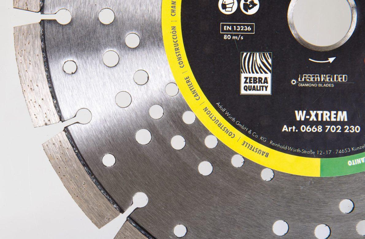Les disques diamant Würth