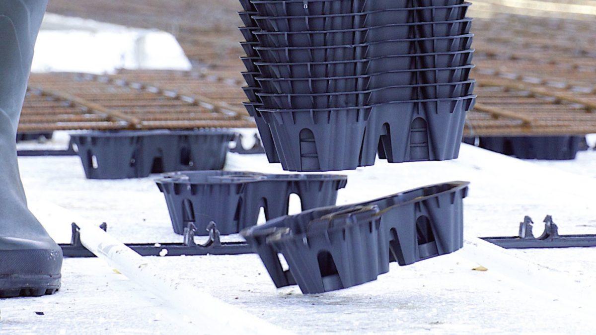 Nouveau produit : les entretoises Speedies simplifient le bétonnage de dalles