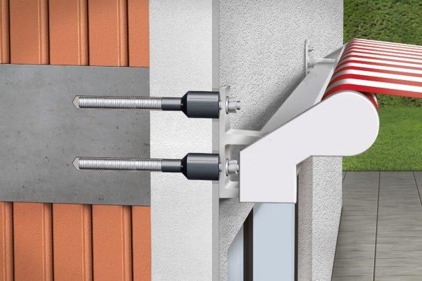 Système AMO-Therm : la fixation avec rupteur de pont thermique