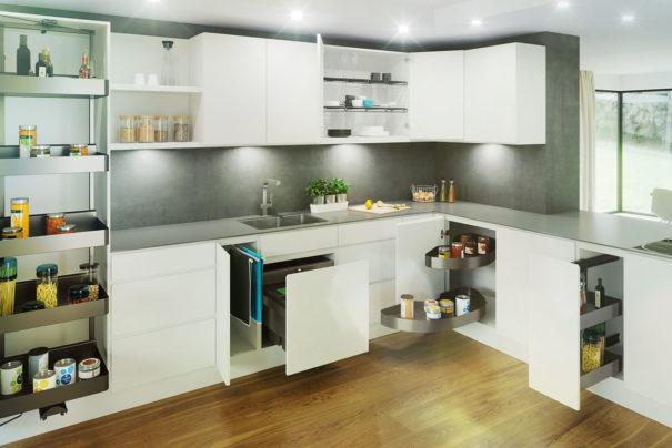 Une multitude de solutions design pour la nouvelle gamme d'aménagement de meubles de cuisine