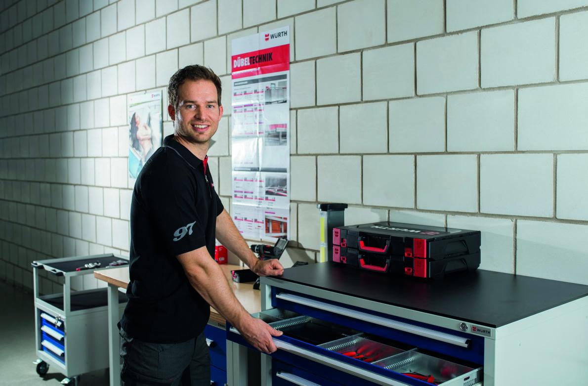 Würth aménage votre atelier pour un espace de travail ergonomique