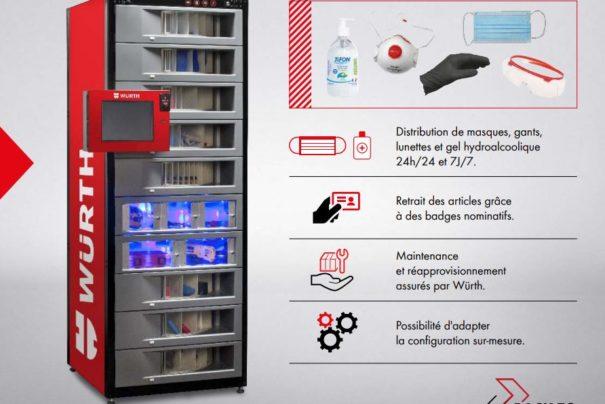 Les distributeurs ORSYmat vous aident à protéger vos collaborateurs