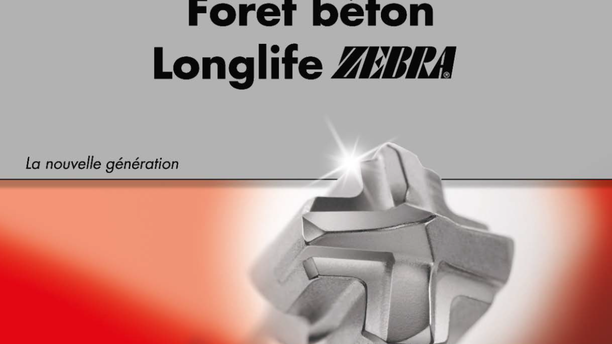 Focus sur notre foret béton Longlife Plus : performance et précision