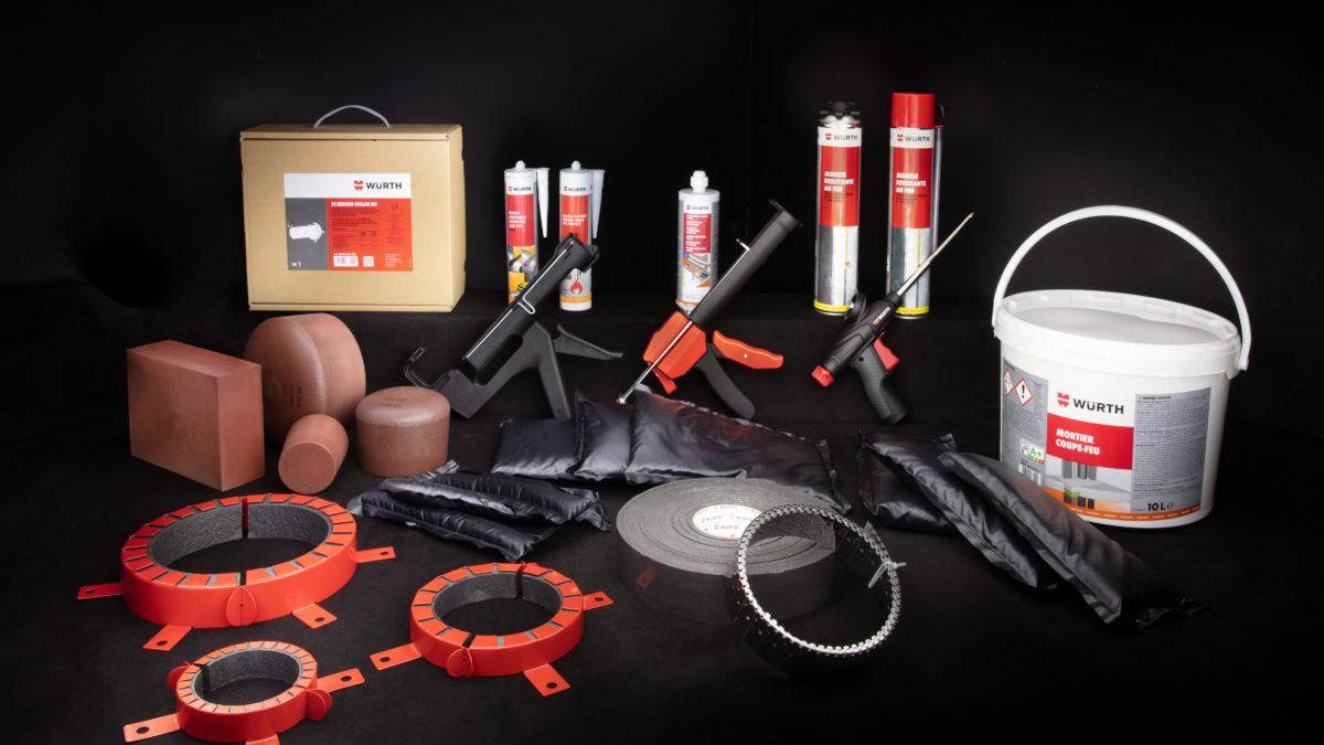 Systèmes de protection passive contre l'incendie : découvrez les normes et les produits Würth