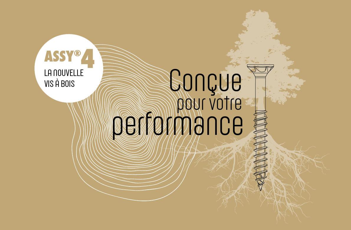 Nouvelle gamme de vis à bois ASSY® 4 : conçue pour votre performance !